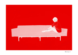Marilyn on the sofa / Red version