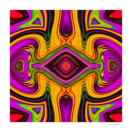 psychedelic geometric symmetry art painting abstract