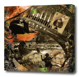 Vietnam War Collage 3D