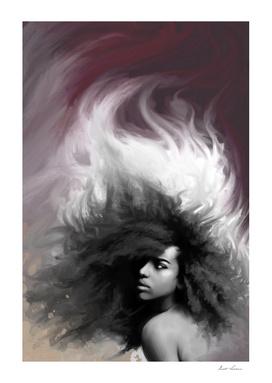 abstract hair