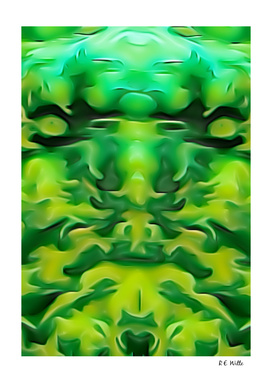 Green Demon Face