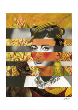 Frida Kahlo's Self Portrait with Parrot & Joan Crawford