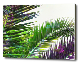 Vintage Palm Leaves - Green