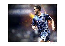 Eden Hazard Chelsea Illustration
