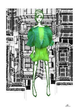 Saucer Vine Jacket and Dress Concept