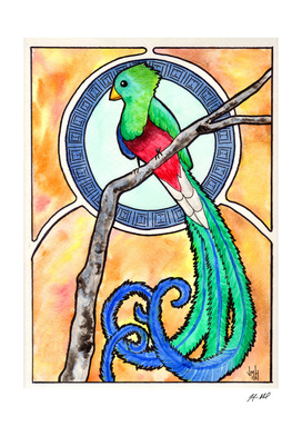 Quetzal Watercolor