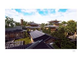 Temple 3d rendering