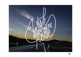 Wish You Were Here - Sunset on Norwegian road