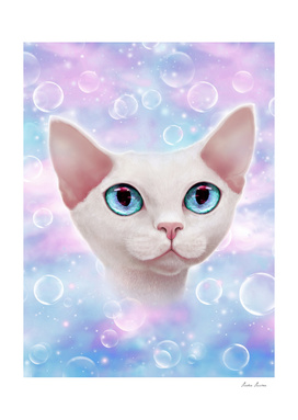 Unicorn bubble kitty