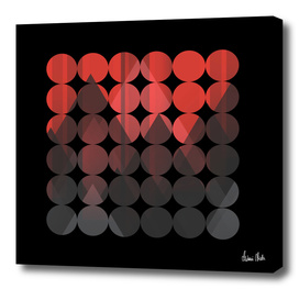 Abstract Geometric | red no. 1