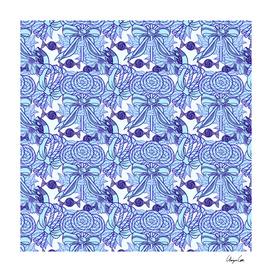 Blue Blazes (Candy Pattern)