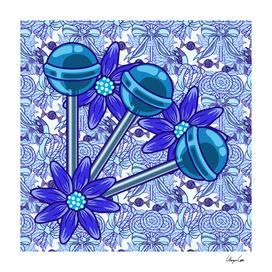 Blue Blazes PLUS (Candy Pattern)