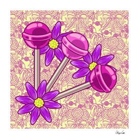 Yellow Bubblegum PLUS (Candy pattern)