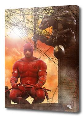 Daredevil and Black Spidey. Team-Up