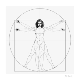 Vitruvian Woman / BW version