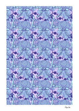 Long Blueberry Fun (Candy Pattern)