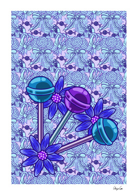 Long Blueberry Fun PLUS (Candy Pattern)