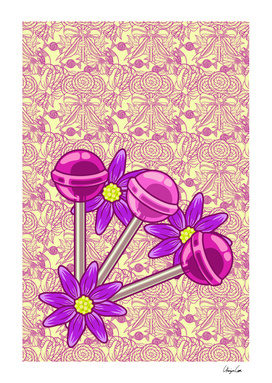 Long Yellow Bubblegum PLUS (Candy pattern)