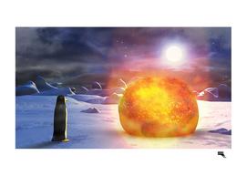 Penguin with Meteorit