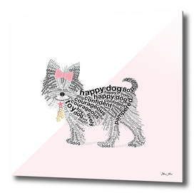 Typographic Yorkshire Terrier