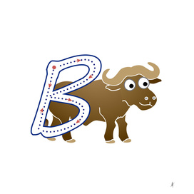 Animal alphabet, letter B: Buffalo