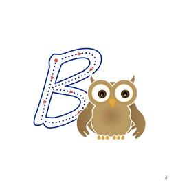Abecedario animal , letra B: Búho