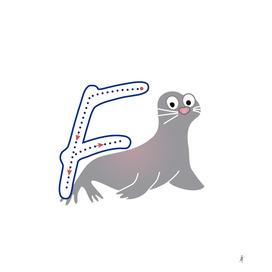 Animal alphabet, letter F: Foca