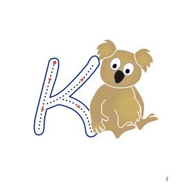 Animal alphabet, letter K: Koala
