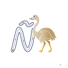 Abecedario animal , letra Ñ: Ñu
