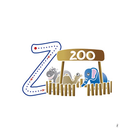 Animal alphabet, letter Z: Zoo