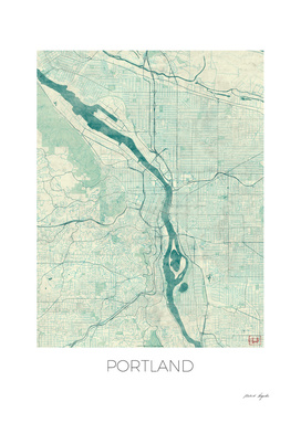 Portland Map Blue