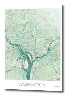 Washington Map Blue