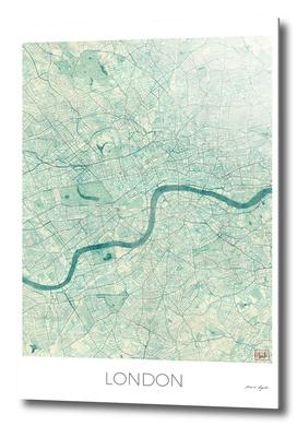 London Map Blue