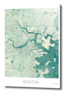 Boston Map Blue