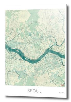 Seoul Map Blue