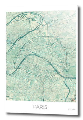 Paris Map Blue