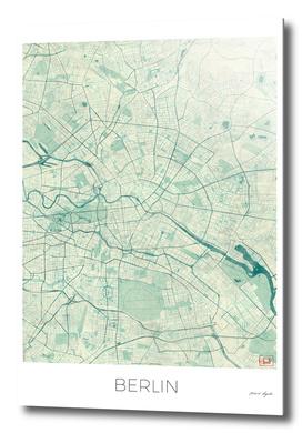 Berlin Map Blue