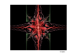 The Red Flame Abstract Art print