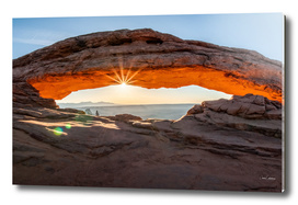 Sunburst at Mesa Arch in the morning