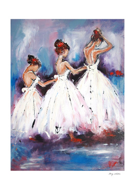 3 ballerina girls