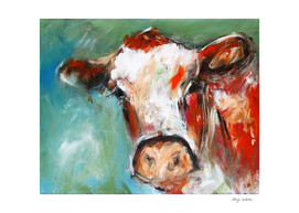 irish cow bovine art