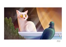 Cat & Pigeon