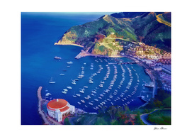 Avalon Harbor on Catalina Island California
