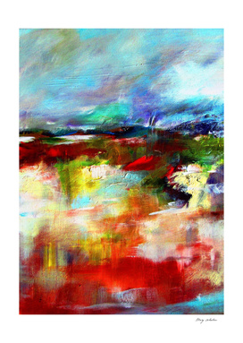 colorful abstract landscape