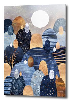 Little land of pebbles - Blue