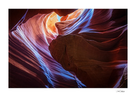Reflected Light at Antelope Canyon