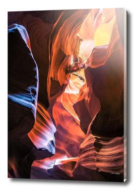 Driftwood above at Antelope Canyon