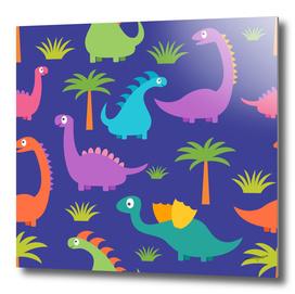 Dino Patterned Artwork