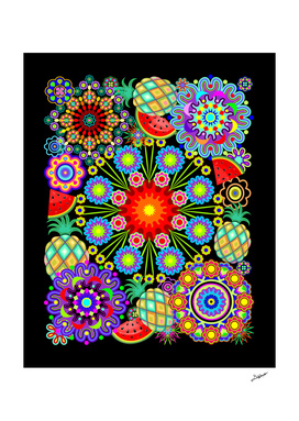 Mandalas & Exotic Fruits Pattern