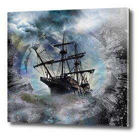 Pirate Ship Rough Storm